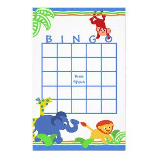 Safari Bingo Stationery