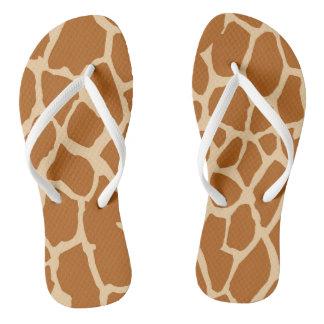 Safari Brown Zebra Skin Pattern Flip Flop
