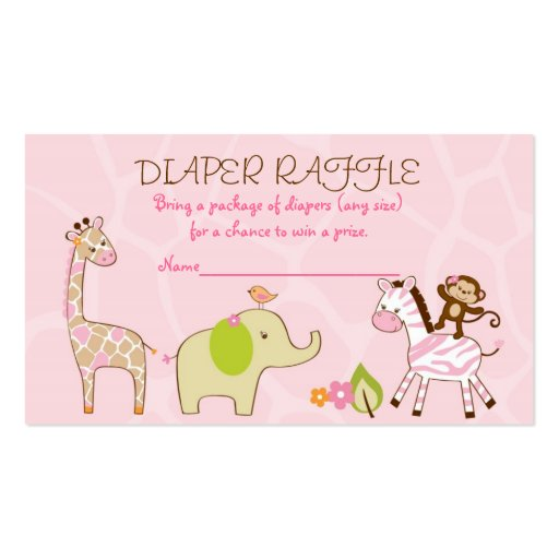 Diaper Raffle Ticket Template Free