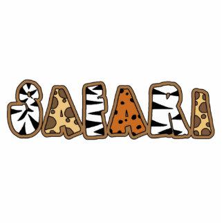 Safari in Animal Print Letters Sculpture Standing Photo Sculpture