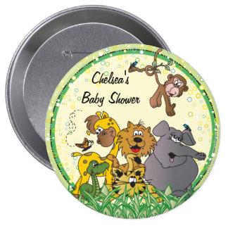 Safari Jungle Baby Animals Pinback Button