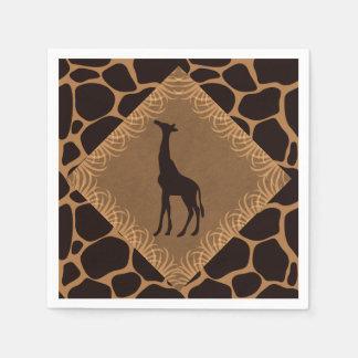 Safari Theme Giraffe Disposable Serviette