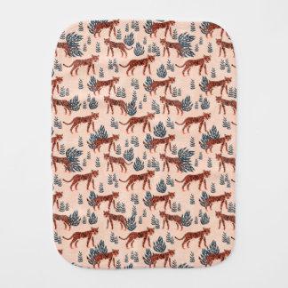 Safari Tiger Blush Coral Girls / Andrea Lauren Baby Burp Cloth