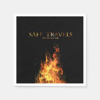 SAFE TRAVELS Cover logo napkins Standard Cocktail Napkin