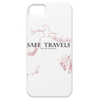 SAFE TRAVELS Witch & logo iPhone Barely There iPhone 5 Case