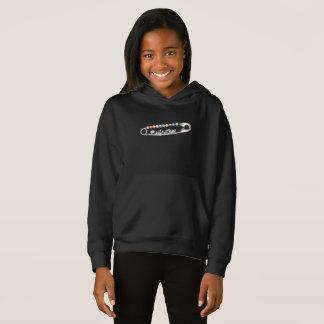 #SafeWithMe Girl's Dark Hoodie