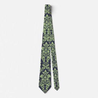 Sage Green Damask Tie