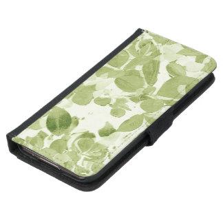Sage Green Leaf Pattern, Vintage Inspired Samsung Galaxy S5 Wallet Case