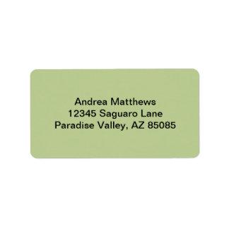 Sage Solid Color Address Label