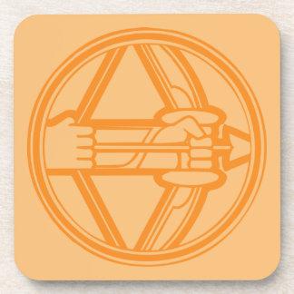 Sagittarius Orange Coaster
