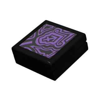 Sagittarius Purple and Black Keepsake Box