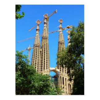 Sagrada Familia church in Barcelona, Spain Postcard