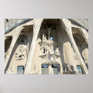 Sagrada Familia. Passion Facade Poster