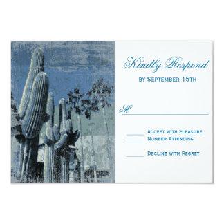 Saguaro Cactus Palm Tree Arizona Wedding RSVP Card 9 Cm X 13 Cm Invitation Card