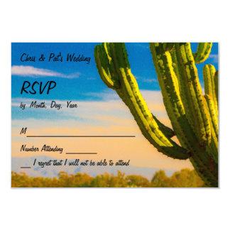 Saguaro Desert Cactus on a Blue Sky RSVP Cards