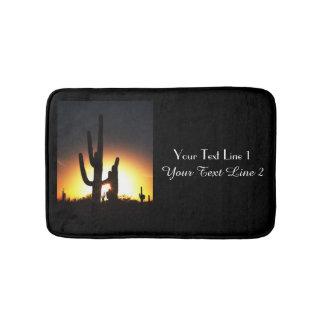 Saguaro Sunset Personalized Bath Mat