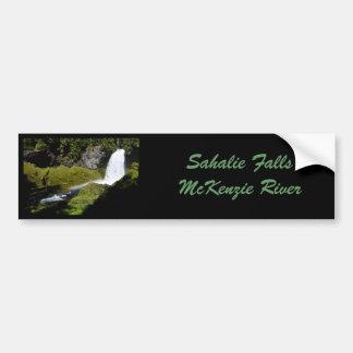 Sahalie Falls Rainbow Car Bumper Sticker