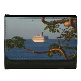 Sail Away at Sunset I Cruise Vacation Photography Wallets For Women