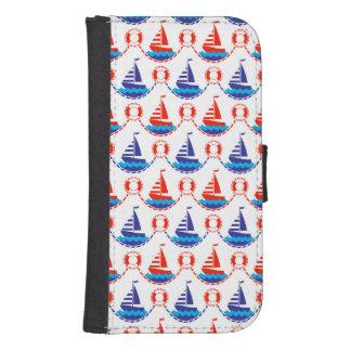 Sail Boat Pattern Samsung S4 Wallet Case