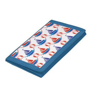 Sail Boat Pattern Tri-fold Wallets