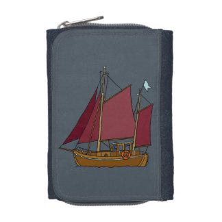 Sail boat wallet