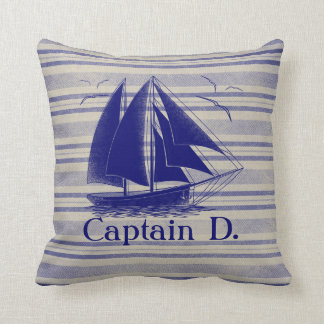 Sail like a pirate, boy's room nautical cushion