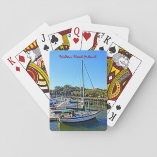 Sailboat At Shelter Cove Marina Hilton Head Island Playing Cards