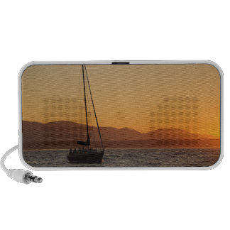 Sailboat At Sunset On The Puget Sound Notebook Speakers