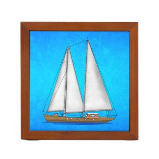 Sailboat Blue Waters Desk Organiser