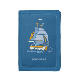 Sailboat custom monogram wallets
