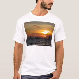 Sailboat Flotilla in Silhouette 2 T-Shirt