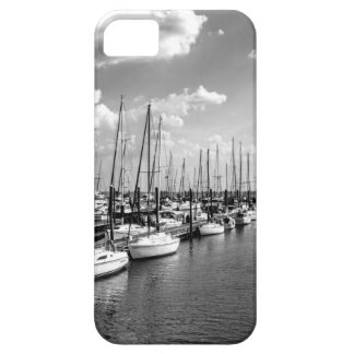 Sailboat Harbor in Black and White iPhone 5 Covers