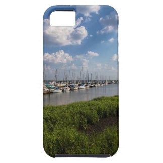 Sailboat Marina and Lush Green Grassland Case For The iPhone 5