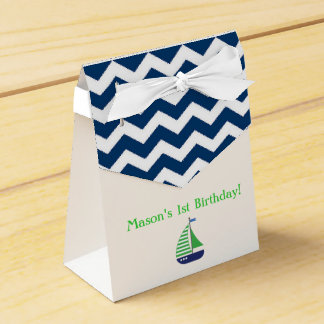 Sailboat Nautical Themed Favor Boxes