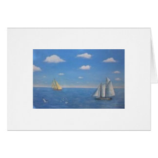 Sailboat painting note card