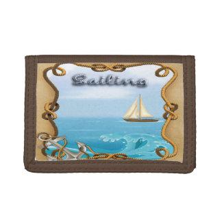 Sailboat - Sailing Tri-Fold Wallet