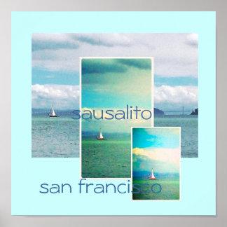 Sailboat- Sausalito San Francisco Poster