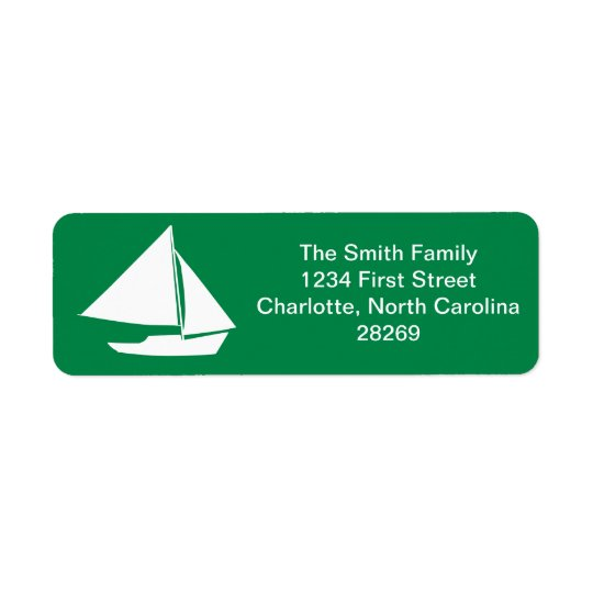 Sailboat Silhouette Nautical Return Address Return Address Label