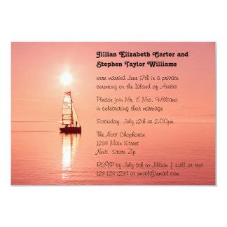Sailboat Sunset Photo - 3x5 Wedding Announcement
