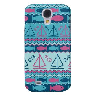Sailboats and Fish Galaxy S4 Case