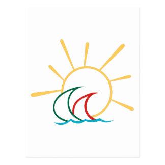 Sailboats in the Sun Postcard