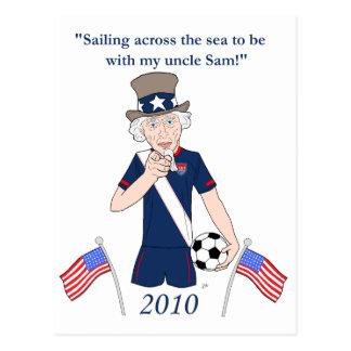 Sailing across the sea postcards