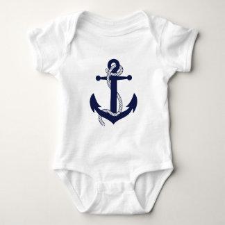 Sailing Anchor Navy Baby Bodysuit