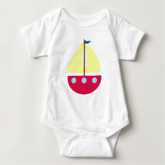 Sailing Boat Baby Bodysuit