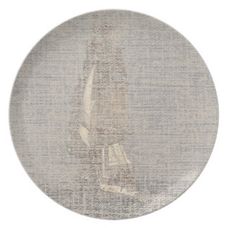Sailing Clipper Tall Ship Boat Ocean Sea Plate