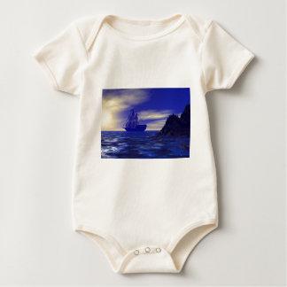 Sailing into blue baby bodysuit