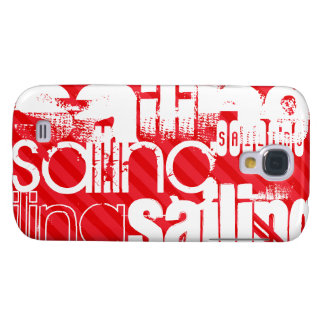 Sailing; Scarlet Red Stripes Galaxy S4 Case