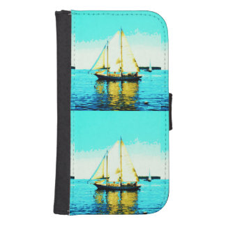 sailing schooners wallet case