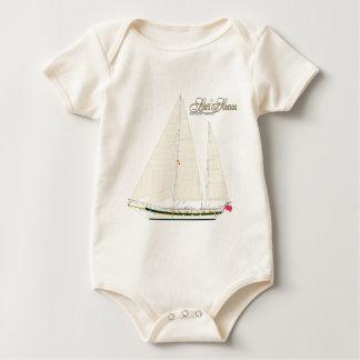 sailing vessel sobraon.Back Baby Bodysuit