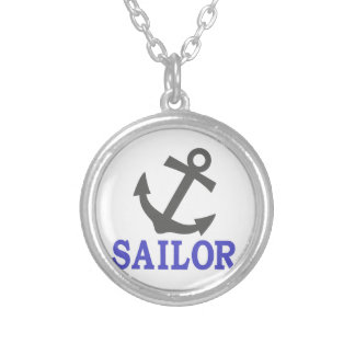 Sailor Anchor Round Pendant Necklace